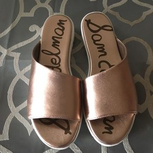 Sam Edelman Rose Gold Slides
